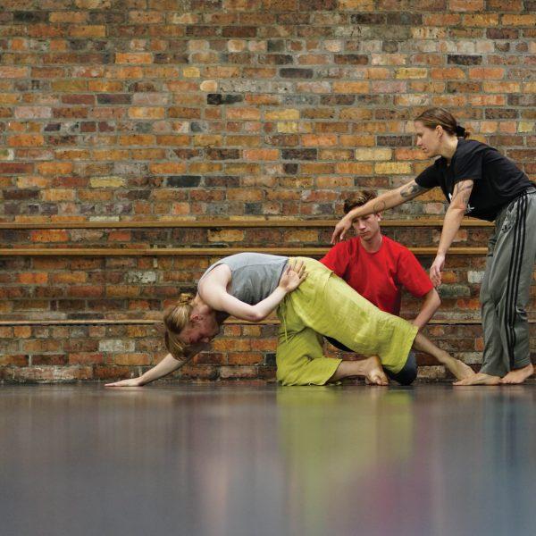 Three people dancing